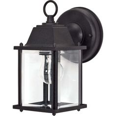 Shop for Nuvo 1-light Textured Black Cube Wall Lantern. Free Shipping on orders over $45 at Overstock.com - Your Online Garden