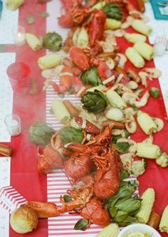 Lobster boil.