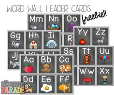 If you're a teacher, there's a good chance you've got a Word Wall in your room {either by desire or demand}. 9 times out of the Word Wall you spent hours planning, setting up, & prepping is just New Classroom, Kindergarten Classroom, Classroom Themes, Classroom Organization, Seasonal Classrooms, Classroom Walls, Classroom Design, Alphabet Activities, Preschool Activities