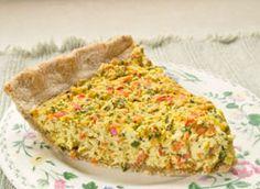 National Soyfoods Month- Recipe #13 – Quick Easy Vegan Tofu Vegetable Quiche