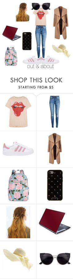 """""""Out in New York"""" by operationsmile ❤ liked on Polyvore featuring MadeWorn, adidas Originals, ban.do, Kate Spade and WithChic"""