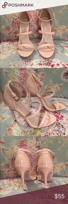 Asos heels bnwot Peach/light pink colored patent leather heels with three straps ASOS Shoes Heels