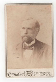 """CABINET CARD OF A DISTINGUISHED """"PROFESSOR"""" FROM THE STUDIO OF C.W. MOTES. From The J. Fred Rodriguez Atlanta Collection."""