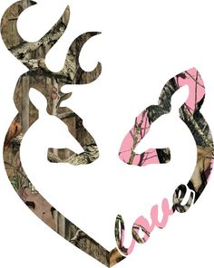 YOU PICK SIZE Browning style camo and pink camo heart shaped with 1 baby buck and 1 baby doe inside decal Browning Symbol, Browning Deer, Browning Tattoo, Browning Logo, Browning Buckmark, Pink Camouflage, Custom Decals, Vinyl Decals, Wall Decals