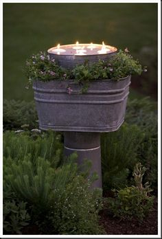 Unique lighting for outdoor weddings. This would be beautiful for a wedding or just for outside the home.