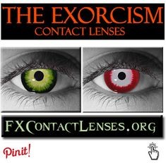 http://fxcontactlenses.org/exorcism-contact-lenses.html - The possessed Demonic eyes of Pauzu, The king of all wind demons, and son of the God Hanbi.  Slip these lenses in, and get ready to crawl into and torture an innocent soul.  These Highly customized & intricate designed Exorcism contacts are Inspired from the movie The exorcist part 1 & 2, and guaranteed to scare the heck out of any mortal beings.