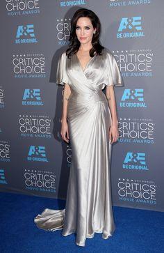 in Atelier Verasce at the Critic's Choice Awards.   - HarpersBAZAAR.com