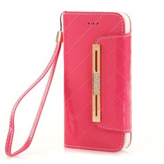 iPhone 6 Case KINGCOOL(TM) Premium Luxury Bling Purse Leather Wallet Handbag Case Cover for Women with Detachable Shoulder Chain Strap Compatible with Apple iPhone 6 4.7 Inch(A-Pink) Specially designed for Apple iPhone 4.7 inch Made of high quality PU leather material+magnetic flip design Includes slots to store your credit cards / business cards Provides great protection with easy installation Full access to all functions