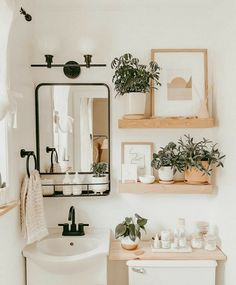 Bathroom Inspiration, Home Decor Inspiration, Decor Ideas, Home Decorations, Cute Bathroom Ideas, Bathroom Stuff, Decor Diy, Bathroom Inspo, Boho Decor