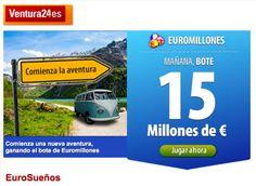 ¡Mañana, Bote de 15 millones de €!  ¡Juega en Ventura24.es!  ¡Euromillones, EuroSueños!