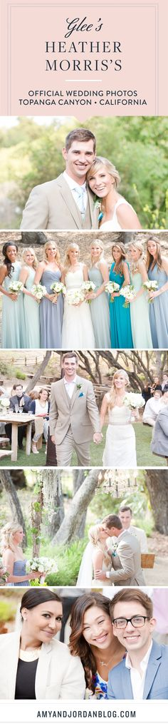 Glee's Heather Morris gets married at a lush Southern California Ranch.<<<This is so cute I might cry.
