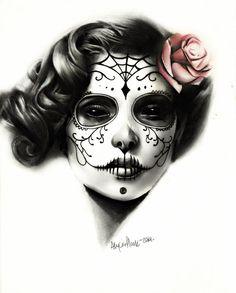 Awesome sugar skull girl!