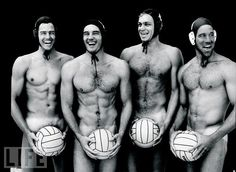 Caps On  In 1996, LIFE asked the sexy, sculpted members of the U.S. Olympic Water Polo team to shed their swimsuits and show photographer Joe McNally what they were made of. Rick McNair, Alex Rousseau, Chris Humbert, and Chris Duplanty were game. The team finished 7th at the Olympics, but won themselves countless fans.