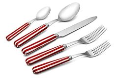 5-Pc Stripe Place Setting, Red on OneKingsLane.com