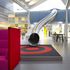 Lego PMD by Rosan Bosch and Rune Fjord: The best escape route from a meeting at the Denmark office of toy brand Lego is down a metal slide.