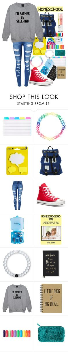"""Back to school 2017"" by wibbly-wobbly-timey-wimey-dork on Polyvore featuring Accessorize, Hot Topic, WithChic, Converse, Lokai, Kate Spade and Yoobi"