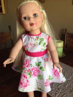 Madame Alexander doll 2013 platinum blonde hair  blue eyes with clothes EUC 3+