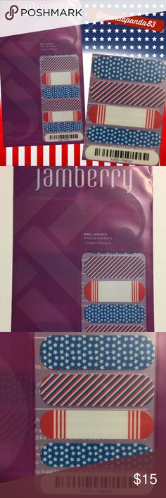 Jamberry 'Patriot' Nail Wraps🇺🇸 NWT! Show your American pride with these 'Patriot' Wraps! Instructions sent with purchase! Jamberry Accessories