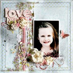 Another beautiful scrapbook layout by Nic Howard using Prima goodies. LOVE it!