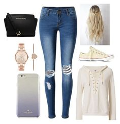 """Untitled #11"" by gabporto on Polyvore featuring NSF, WithChic, Converse, Kate Spade and Michael Kors"