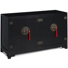 Double-Sided Cabinet, Black Lacquer
