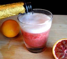 Blood Orange Slush Mimosa