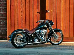 Custom '07 Harley-Davidson Softail Deluxe | The exhaust was fabricated out of stainless steel with 1.75- inch head pipes stepped to 2-inch tail pipes.