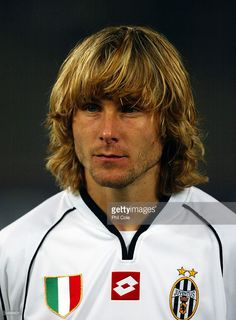 Portrait of Pavel Nedved of Juventus during the UEFA Champions League, Group E match on October 1, 2002 between Juventus and Newcastle United played at the Stadio Delle Alpi in Turin, Italy. Juventus won the match 2-0.