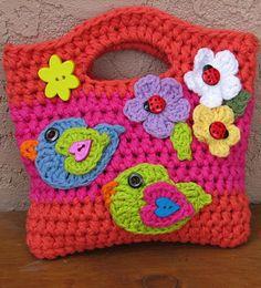 Crochet pattern girls bag