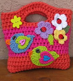 Crochet pattern girls bag