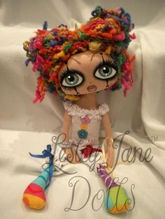 Lesley Jane Clown Doll - Another pinner said: i would love to own one of these dolls they are devine!!