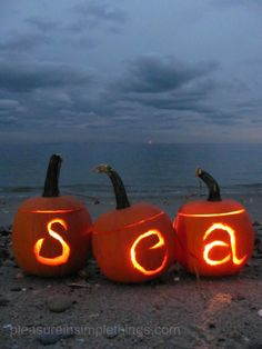 Sea-carved coastal pumpkins- reminds me when we spent Halloween in La Jolla