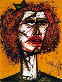 Tête rousse, huile sur toile, 130 x 97 cm, 1967. Musée Bernard Buffet.