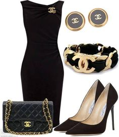 Multiple Chanel accessories make a classic statement outfit fabulous