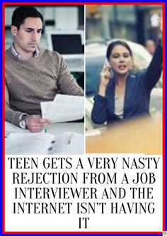 Teen Gets a Very Nasty Rejection from a Job Interviewer and the Internet Isn't Having It Get Rid Of Nausea, Isn, Insta Photo Ideas, How To Get Rid, Fun Facts, Interview, Hilarious, Relationship, Yoga