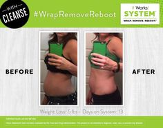 With a System this easy and results like these, why wouldn't you #WrapRemoveReboot?! What step are YOU on today?  ❤️www.wrapswithmarian.com❤️ #WrapRemoveReboot #ishrinkfatforaliving #wraps #greens #thermofit #hydrate