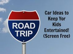 Summer is winding down, but vacations are year round! If you have a road trip in the near future you may want to check out these tips & trickson how to keep your kids entertained…screen free! One Tip- bring a cookie sheet for each kid. These can easily be stored underneath the seats when they are not in use. They also can be used for all of the activities listed below. The lifted edge makes it easier for items to stay on the sheet and not fall onto the floor, causing tears- which we…