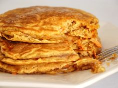 Carrot Cake Pancakes... and to think that I have some leftover cream cheese frosting in my fridge...