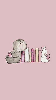 Min Wallpaper Pink Cute Elephant Best Phone Iphone Books