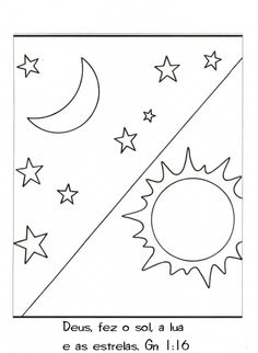 Preschool Bible Lessons, Toddler Learning Activities, Sun Coloring Pages, Crafts For Kids, Arts And Crafts, Embroidery Patterns Free, Sunday School Crafts, Kindergarten Worksheets, Clip Art