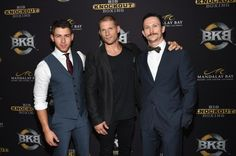 Nick Jonas, Taylor Kitsch + More at BKB Big Knockout Boxing image Nick Jonas Jonathan Tucker Matt Lauria 800x532