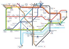 Harry Beck Tube map showing tube lines in different colours © Harry Beck, TFL Harry Beck designed the London Underground map of (BBC, London Underground, Underground Tube, London Tube Map, London Map, London City, Metro Map, Subway Map, British People, London Hotels