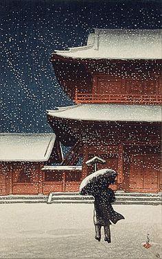 Japanese woodblock print. Art japonais - Hasui Kawase                                                                                                                                                                                 More