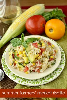 Summer Farmers' Market Risotto is packed with fresh, summer farmers' market finds. | iowagirleats.com