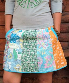 Another great find on #zulily! Spicy Green Mango Pink Paisley Seven-Colors Skirt by Spicy Green Mango #zulilyfinds