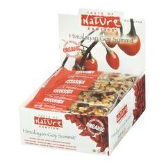 Taste of Nature Exotics Organic Food Bars - Himalayan Goji Summit $33.99 - from Well.ca