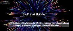 SAP Business Suite platform to effectively manage operating databases in enterprises upon in memory computing platform - indusnovateur.com/sap/sap-hana/