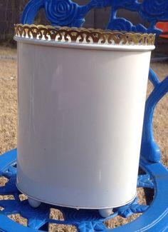 1000 images about trash cans on pinterest vintage metal for Gold bathroom bin