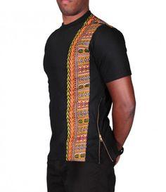 Dashiki Stripe King T-Shirt African Attire For Men, African Print Fashion, African Wear, African Women, African Dress, African Style, African Inspired Clothing, Afro Men, African Shirts