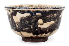 AUNE SIIMES, A CERAMIC BOWL. Signed A.S. Arabia Suomi. Light and dark glazing. 1940's. Height 15 cm.